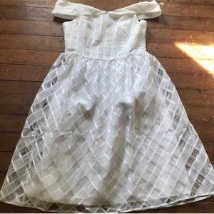 Spring Tea Length Wedding Dress